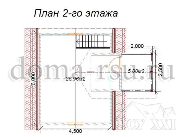 Проект каркасного дома КД002