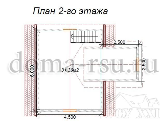 Проект каркасного дома КД003