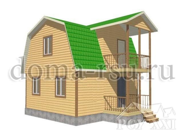 Проект каркасного дома КД004
