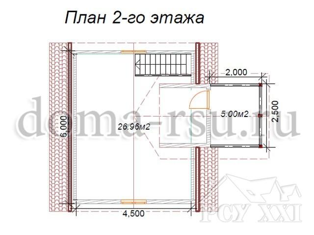 Проект дома из бруса БД004