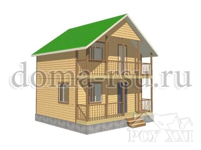 Проект дома из бруса БД005