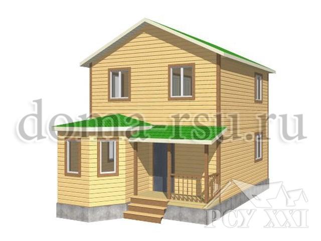Проект дома из бруса БД007