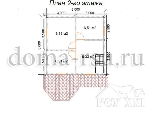 Проект каркасного дома КД007