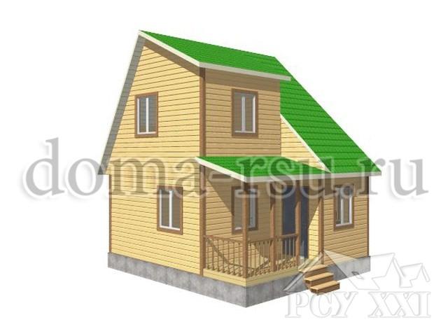 Проект дома из бруса БД008