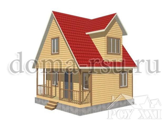 Проект каркасного дома КД009