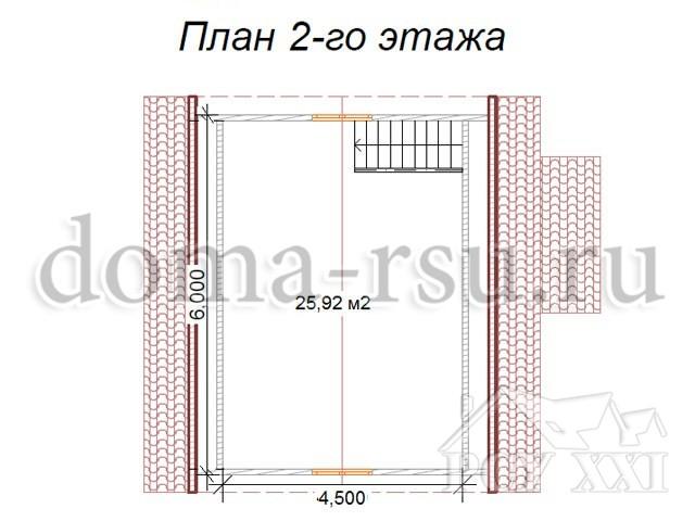 Проект дома из бруса БД010