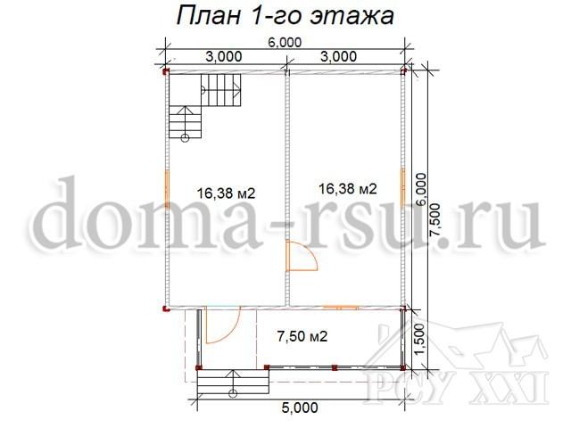 Проект каркасного дома КД011