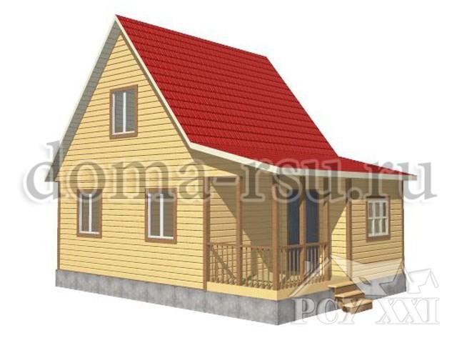 Проект каркасного дома КД012