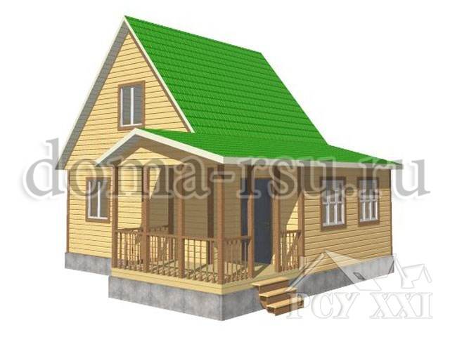 Проект дома из бруса БД013