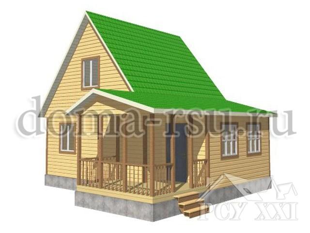 Проект каркасного дома КД013