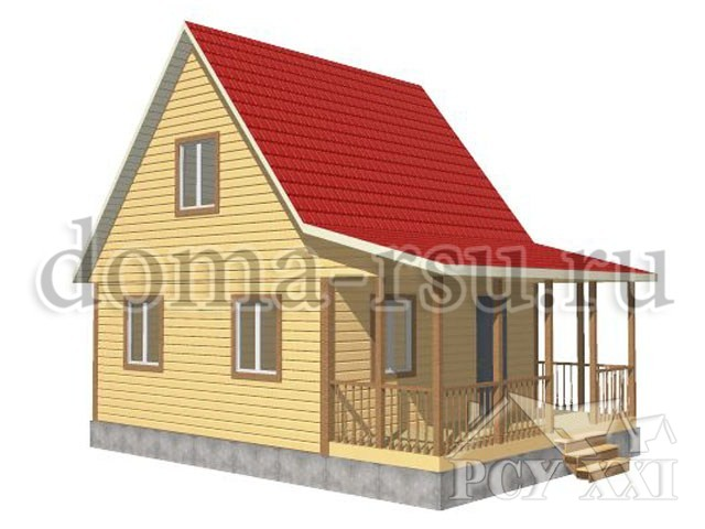 Проект каркасного дома КД014