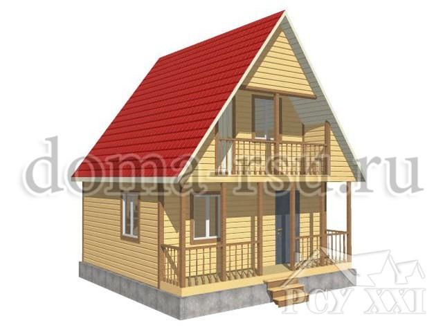 Проект дома из бруса БД015