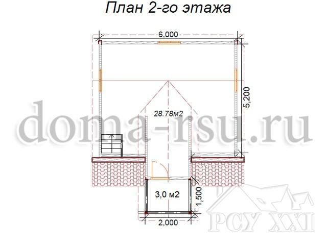 Проект каркасного дома КД016