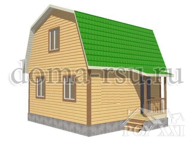Проект дома из бруса БД021