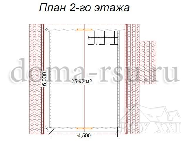 Проект каркасного дома КД021