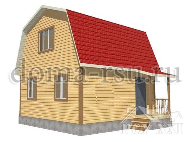 Проект дома из бруса БД022