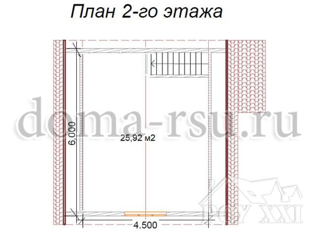 Проект каркасного дома КД022