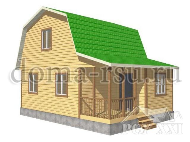 Проект дома из бруса БД023