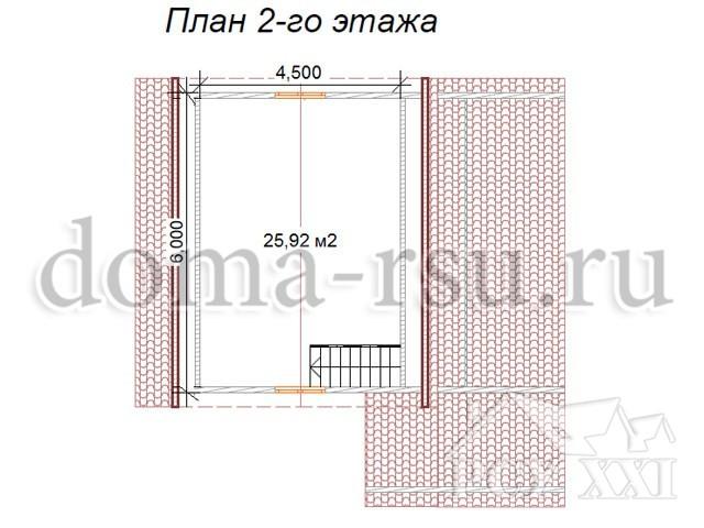 Проект каркасного дома КД024