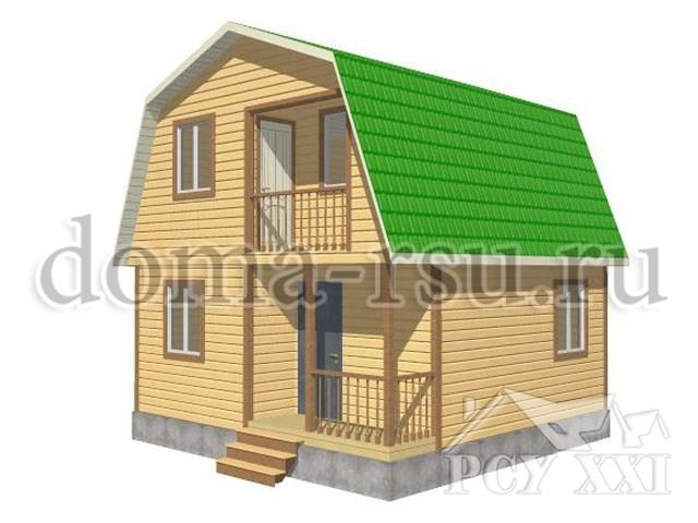 Проект дома из бруса БД025