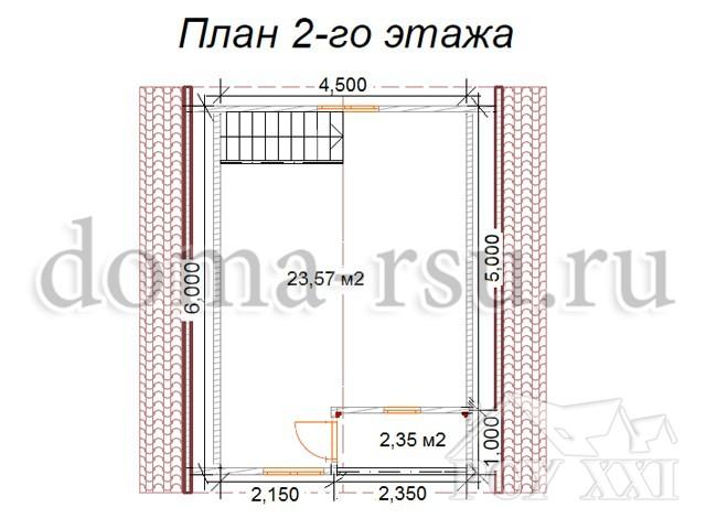 Проект каркасного дома КД025
