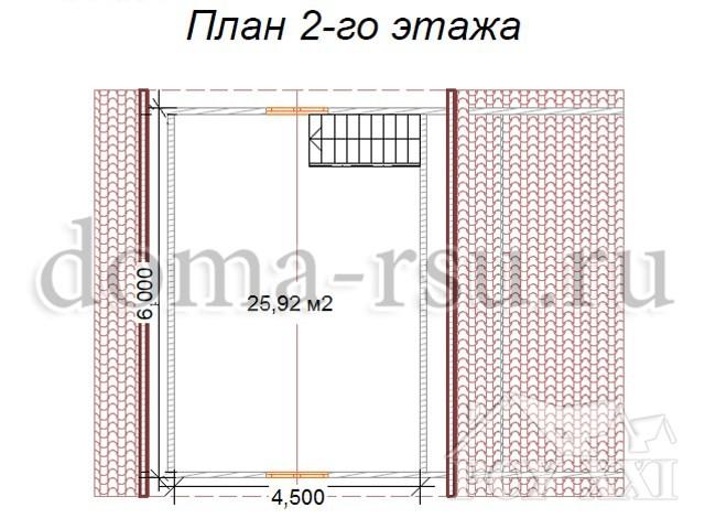 Проект каркасного дома КД026