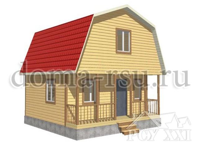 Проект дома из бруса БД028