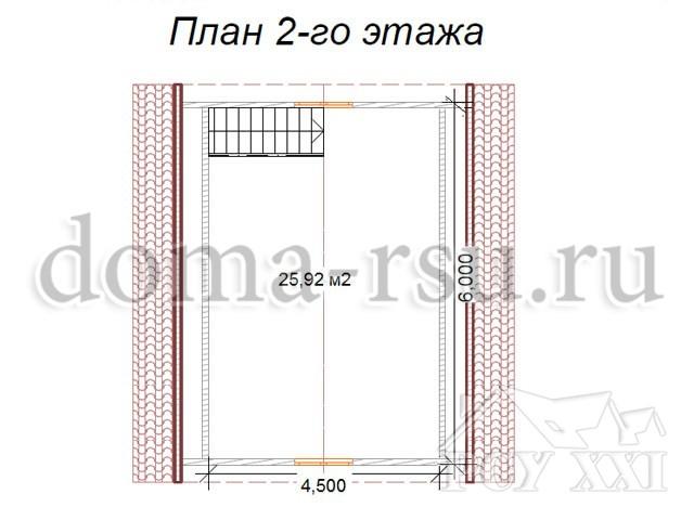 Проект каркасного дома КД028