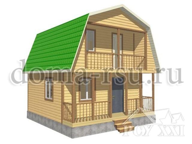 Проект дома из бруса БД029
