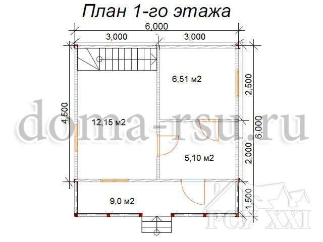 Проект каркасного дома КД029