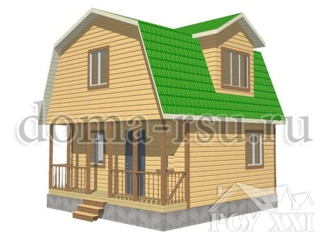 Проект дома из бруса БД030