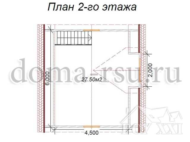 Проект каркасного дома КД030
