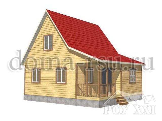 Проект дома из бруса БД032