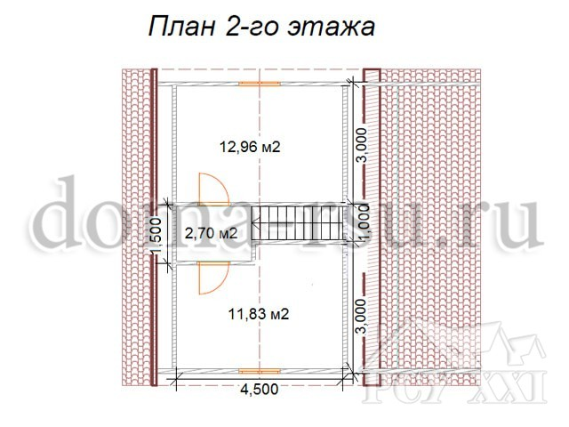 Проект каркасного дома КД032