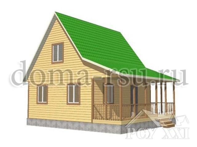 Проект дома из бруса БД033