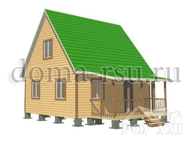Проект каркасного дома КД034