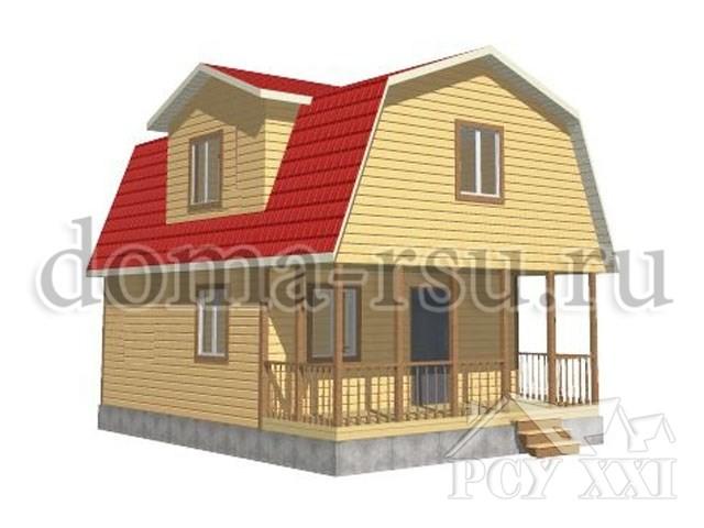 Проект дома из бруса БД035