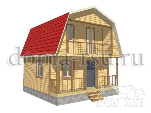 Проект каркасного дома КД037