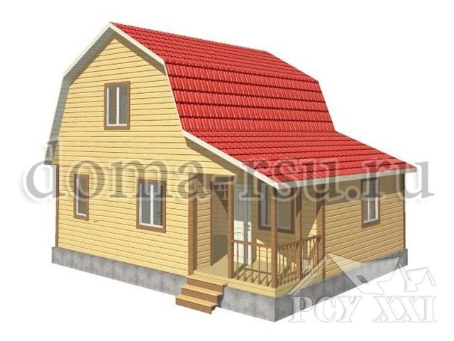 Проект каркасного дома КД038