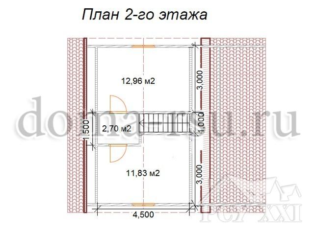 Проект каркасного дома КД039