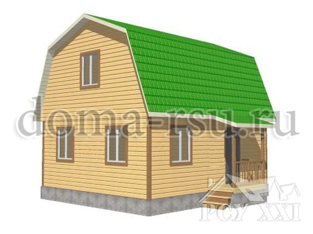 Проект дома из бруса БД040