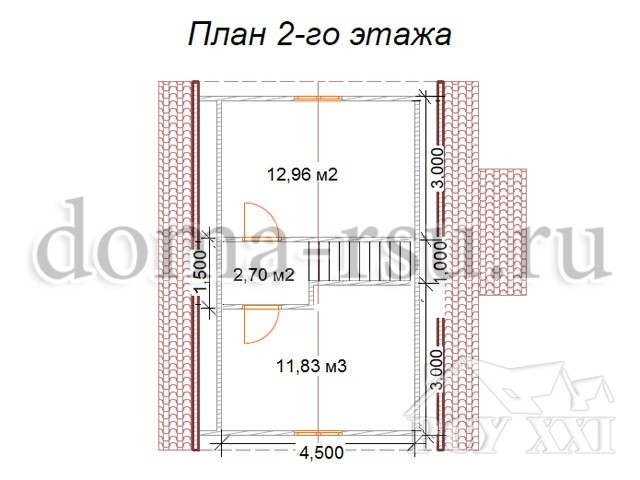 Проект каркасного дома КД040