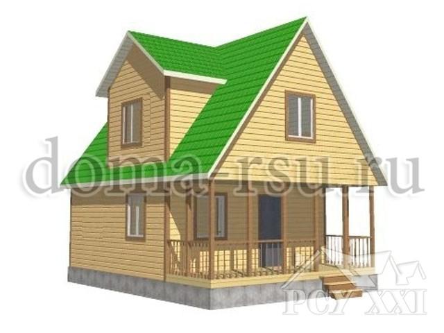 Проект дома из бруса БД041