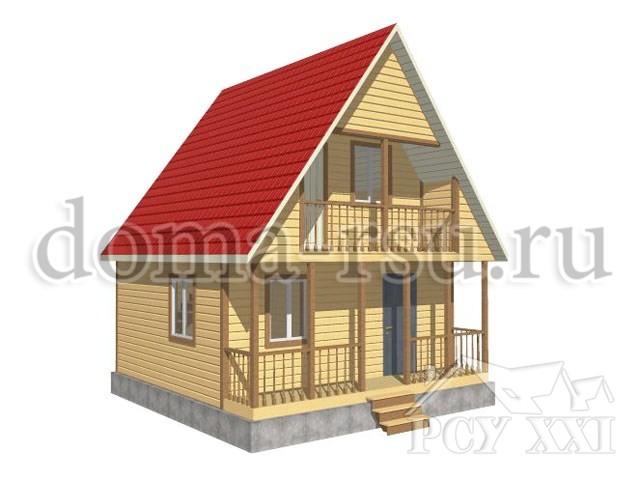 Проект дома из бруса БД042