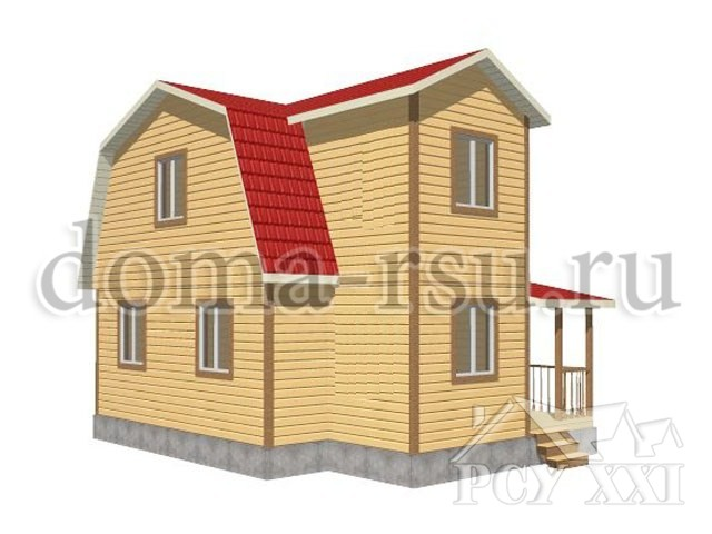 Проект каркасного дома КД044