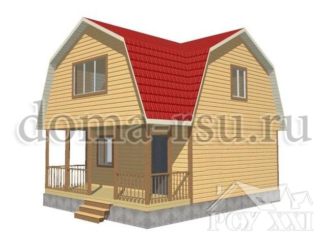Проект дома из бруса БД045
