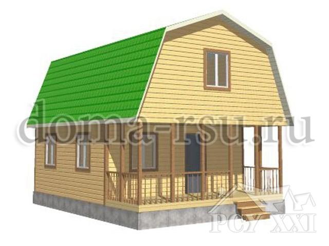 Проект каркасного дома КД047
