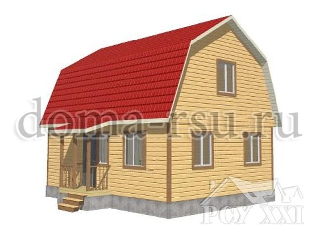Проект каркасного дома КД048
