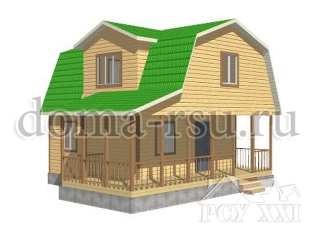 Проект каркасного дома КД049