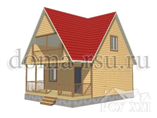Проект дома из бруса БД050
